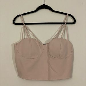 Charlotte Russell Caged Bustier Crop Top